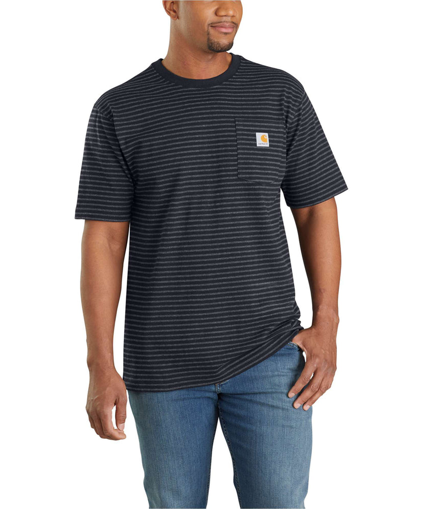 Carhartt K87 Workwear Pocket T-Shirt - Black Stripe