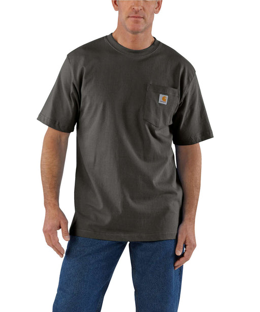 Carhartt K87 Workwear Pocket T-shirt in Peat at Dave's New York
