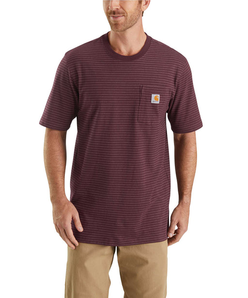 Carhartt K87 Workwear Pocket T-Shirt - Port Stripe Heather
