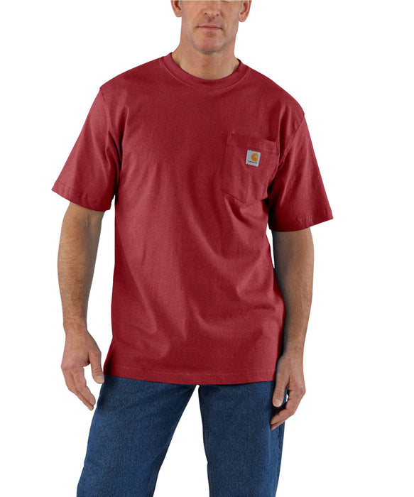 Carhartt K87 Workwear Pocket T-Shirt - Sun-Dried Tomato Heather