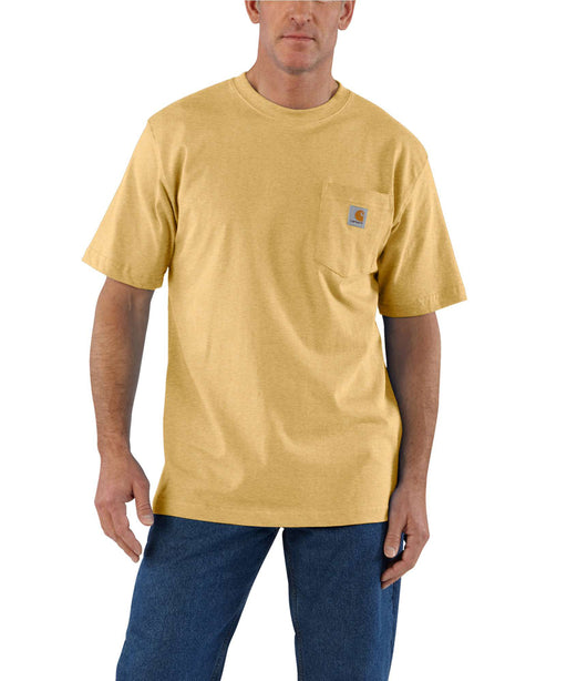 Carhartt K87 Workwear Pocket T-Shirt - Misted Yellow Heather