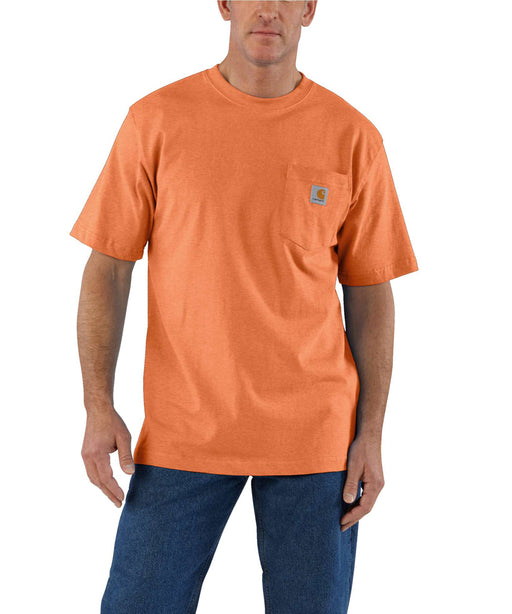 Carhartt K87 Workwear Pocket T-Shirt - Apricot Orange Heather