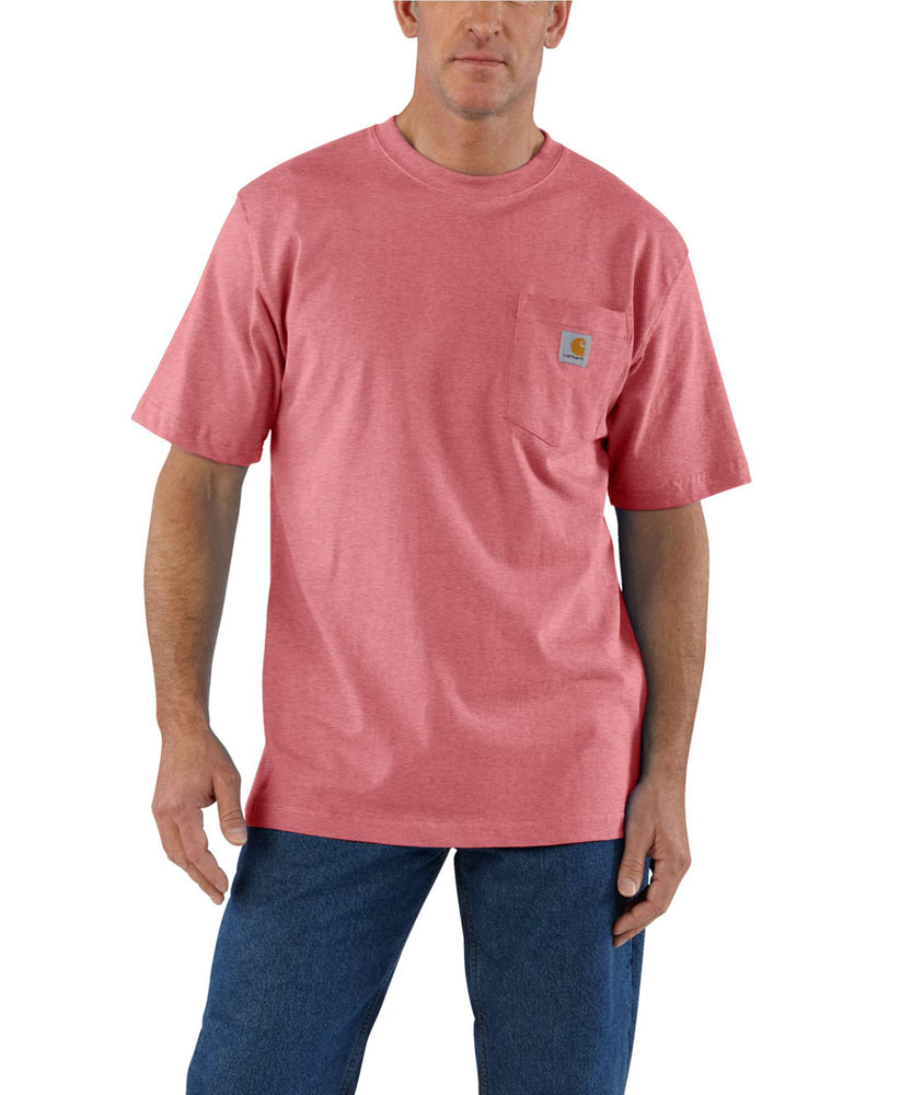 Carhartt K87 Workwear Pocket T-Shirt - Brick Dust Heather