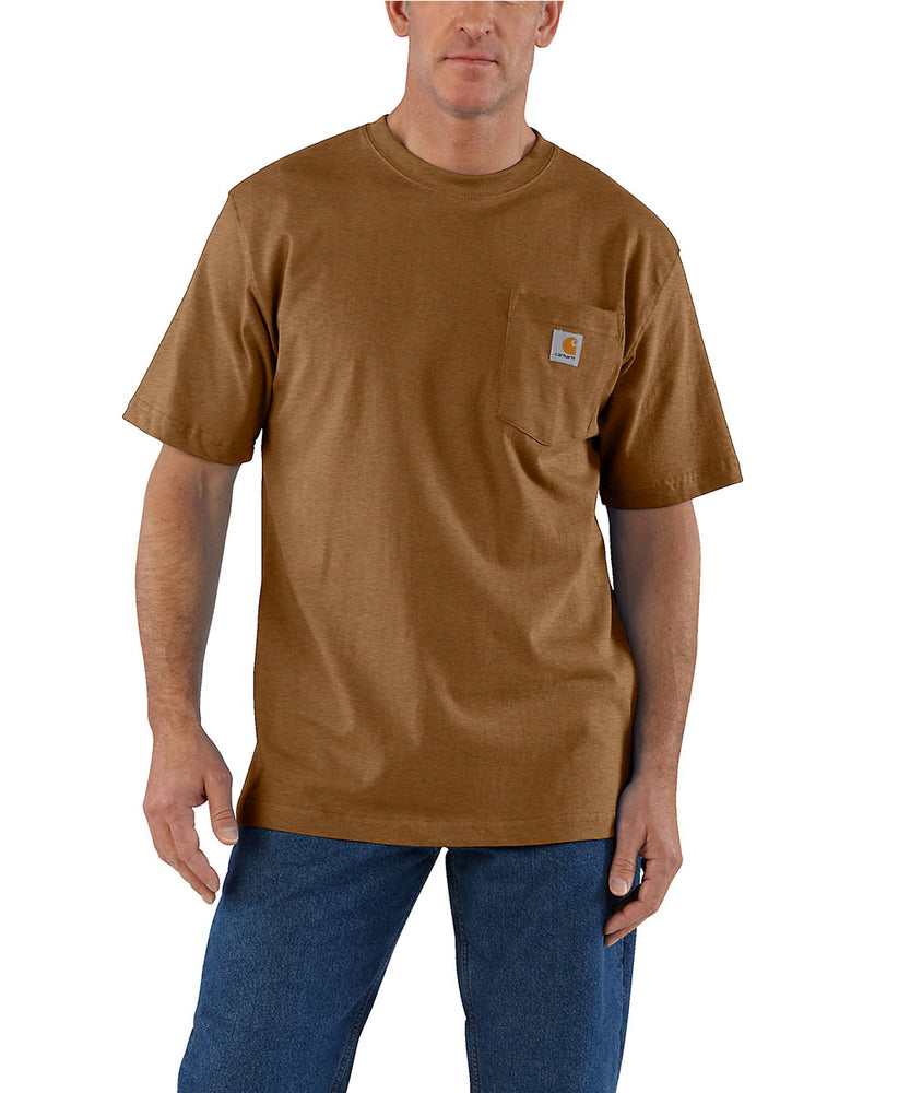 Carhartt K87 Workwear Pocket T-shirt in Oiled Walnut Heather at Dave's New York