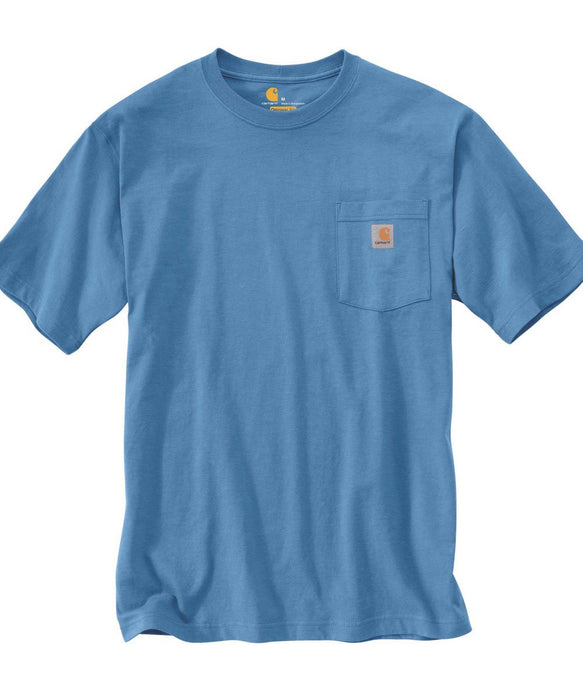 Carhartt K87 Workwear Pocket T-shirt in French Blue at Dave's New York