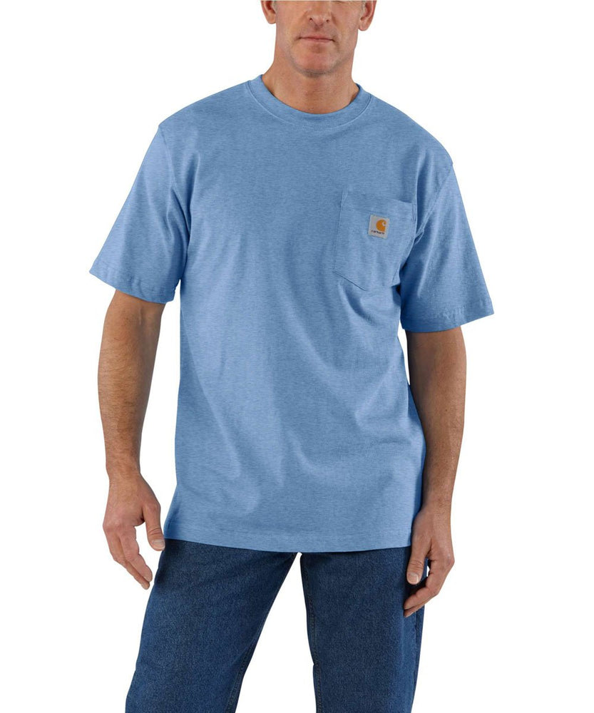 Carhartt K87 Workwear Pocket T-Shirt - French Blue