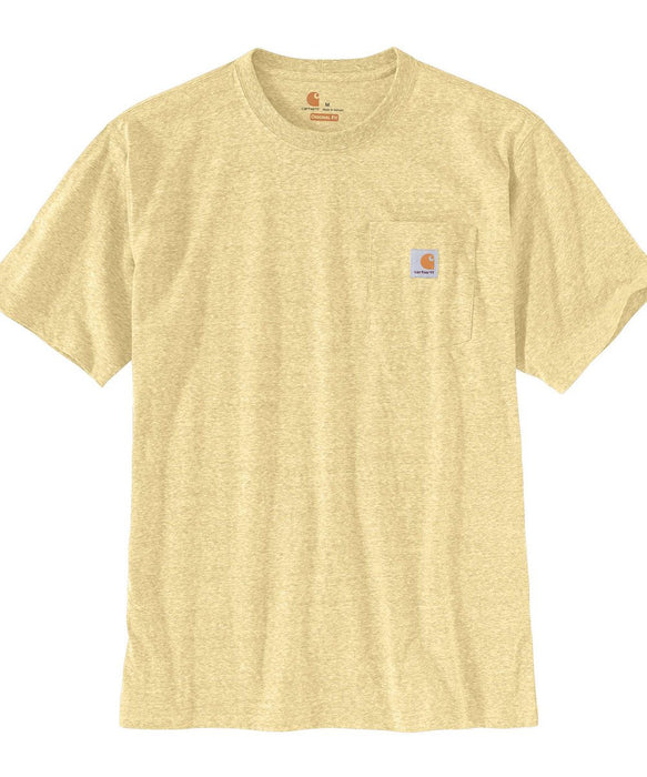 Carhartt K87 Workwear Pocket T-Shirt - Golden Haze Snow Heather