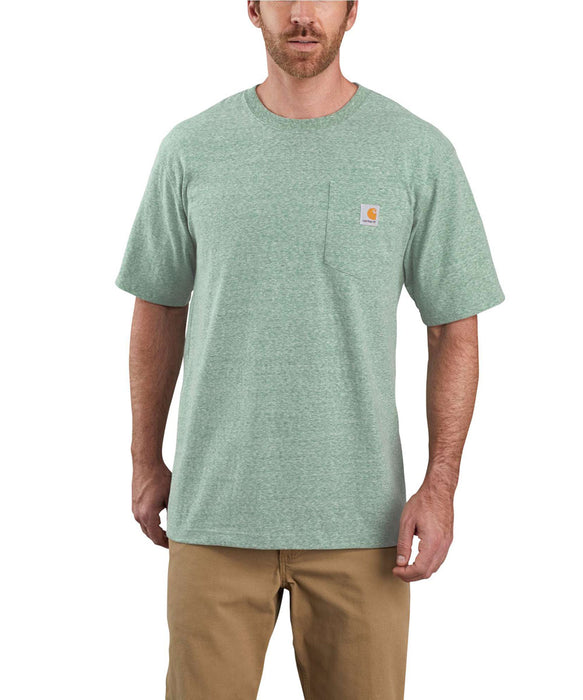 Carhartt K87 Workwear Pocket T-Shirt - Musk Green Snow Heather
