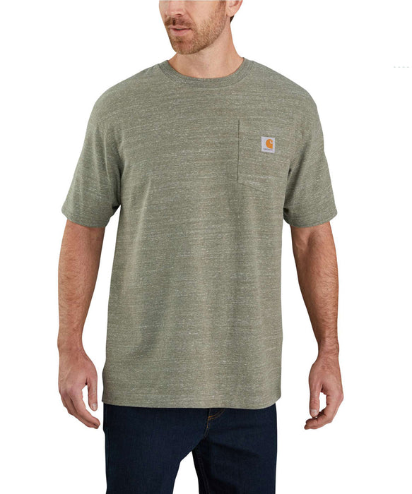 Carhartt K87 Workwear Pocket T-Shirt - Winter Moss Snow Heather