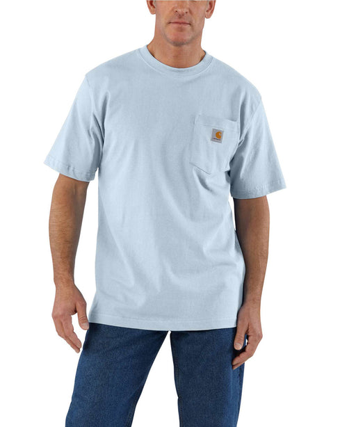 Carhartt K87 Workwear Pocket T-Shirt - Soft Blue