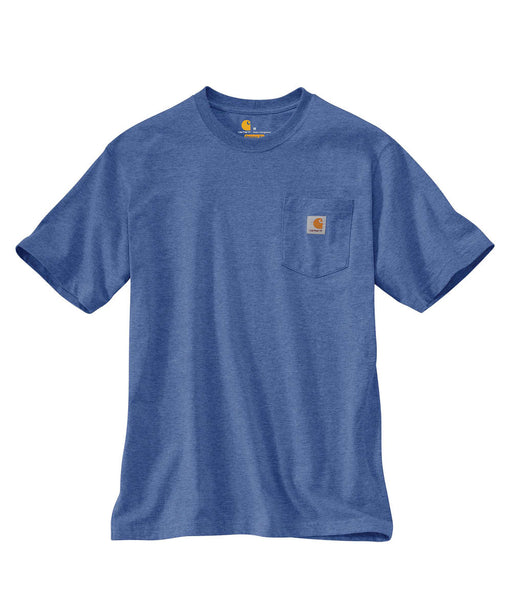 Carhartt K87 Workwear Pocket T-shirt in Dusk Blue Heather at Dave's New York