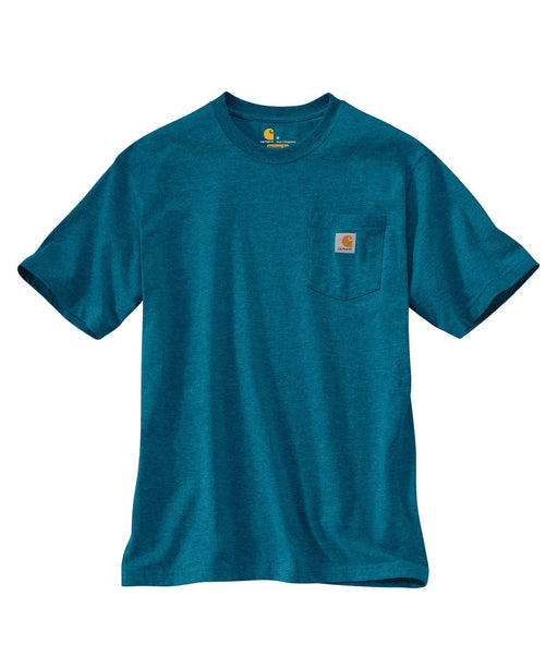 Carhartt K87 Workwear Pocket T-Shirt - Ocean Blue Heather