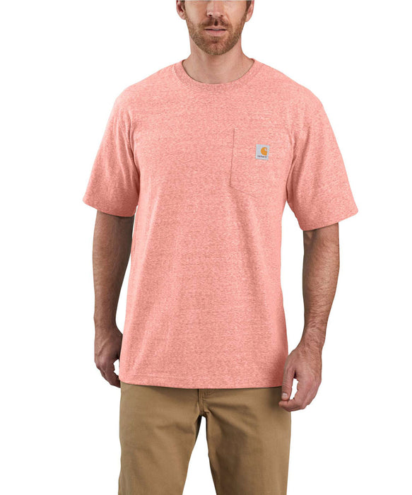 Carhartt K87 Workwear Pocket T-Shirt - Harvest Orange Snow Heather