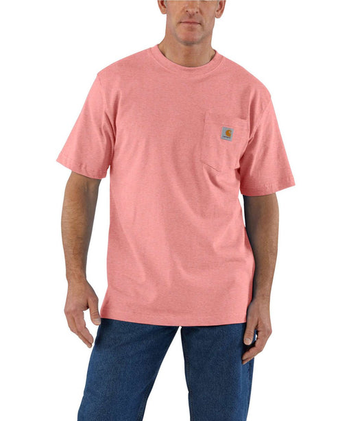 Carhartt K87 Workwear Pocket T-Shirt - Coral Haze