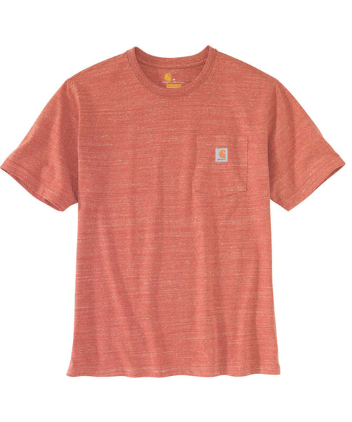 Carhartt K87 Workwear Pocket T-Shirt - Cayenne Snow Heather