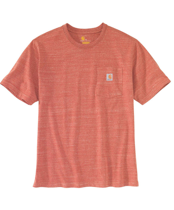 Carhartt K87 Workwear Pocket T-shirt in Cayenne Snow Heather at Dave's New York