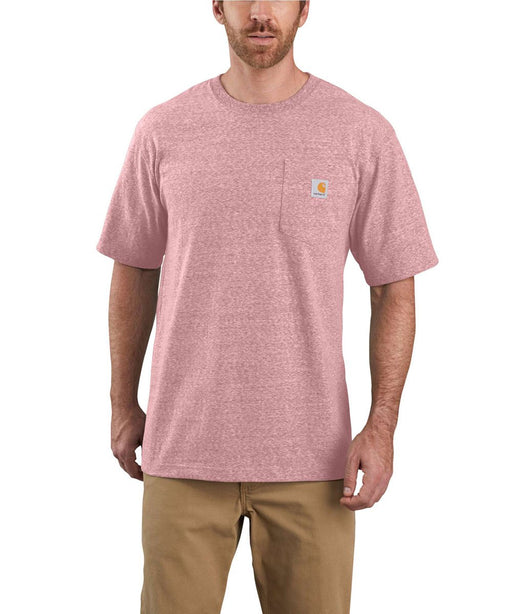 Carhartt K87 Workwear Pocket T-Shirt - Dark Barn Red Snow Heather