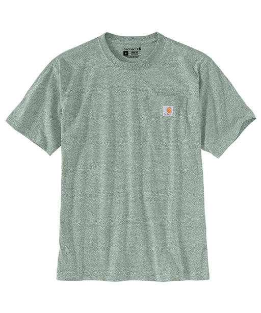 Carhartt K87 Workwear Pocket T-Shirt - Leaf Green Snow Heather at Dave's New York