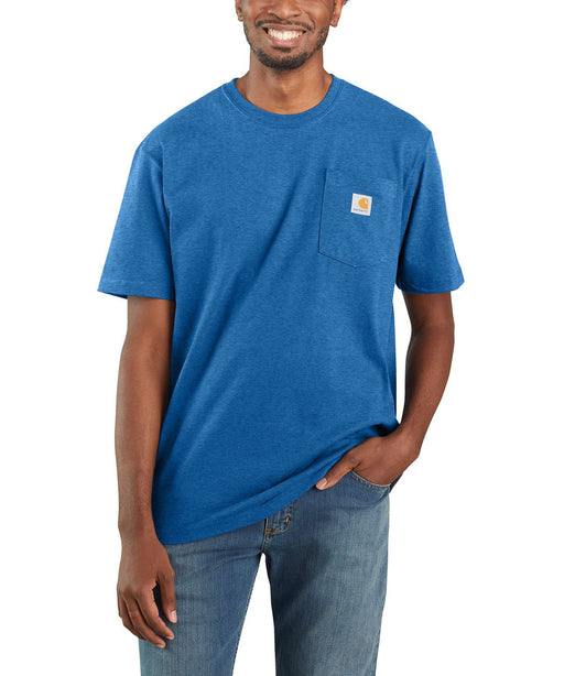 Carhartt K87 Workwear Pocket T-Shirt - Light Cobalt Heather at Dave's New York