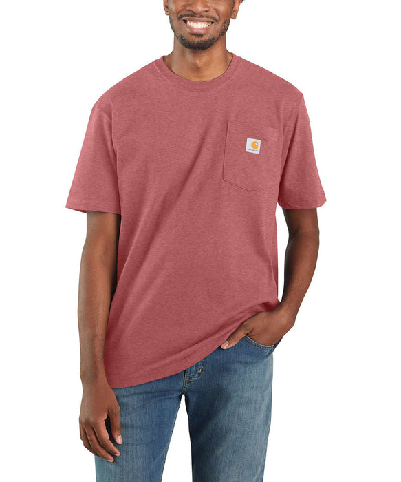 Carhartt K87 Workwear Pocket T-Shirt - Blush Pink Heather at Dave's New York