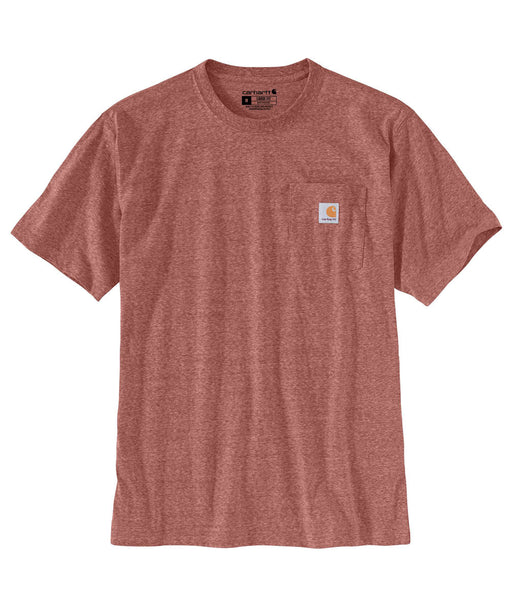 Carhartt K87 Workwear Pocket T-Shirt - Auburn Snow Heather at Dave's New York