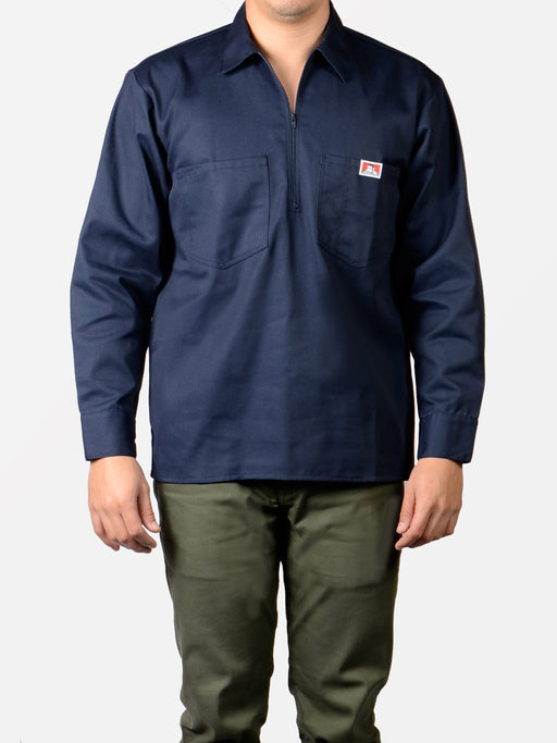 Ben Davis Long Sleeve Work Shirt - Navy