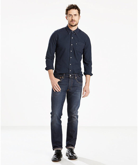 Levi's Men's 501 Original Fit Jeans - Anchor Stretch