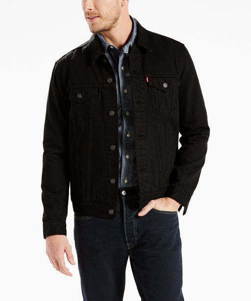 Levi Men's Trucker Jacket in Lamar Black at Dave's New York