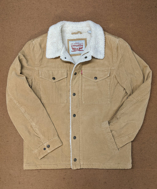 Levi's Men's Corduroy Sherpa Trucker Jacket in Tan at Dave's New York