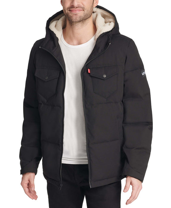 Levi's Men's Quilted Puffer Jacket - Black