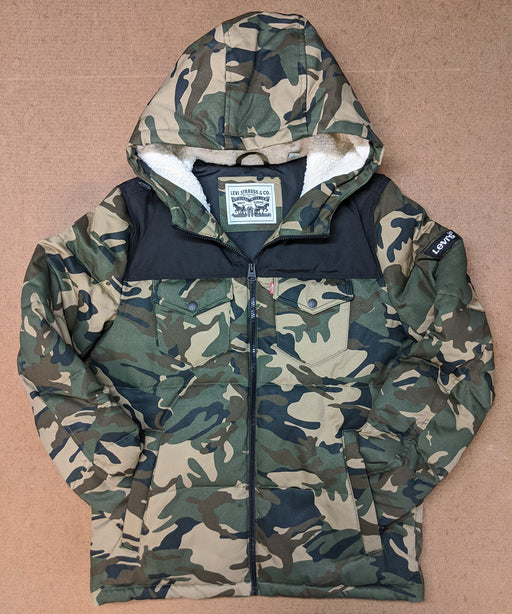 Levi's Men's Quilted Puffer Jacket in Camo/Black at Dave's New York
