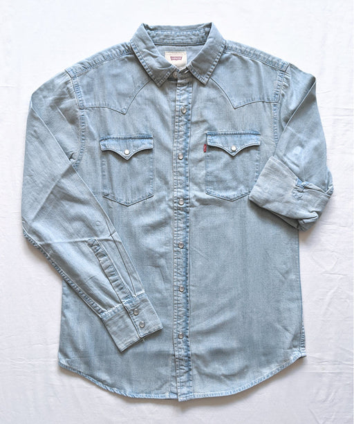 Levi's Men's Standard Western Denim Shirt in New Age Bleach at Dave's New York