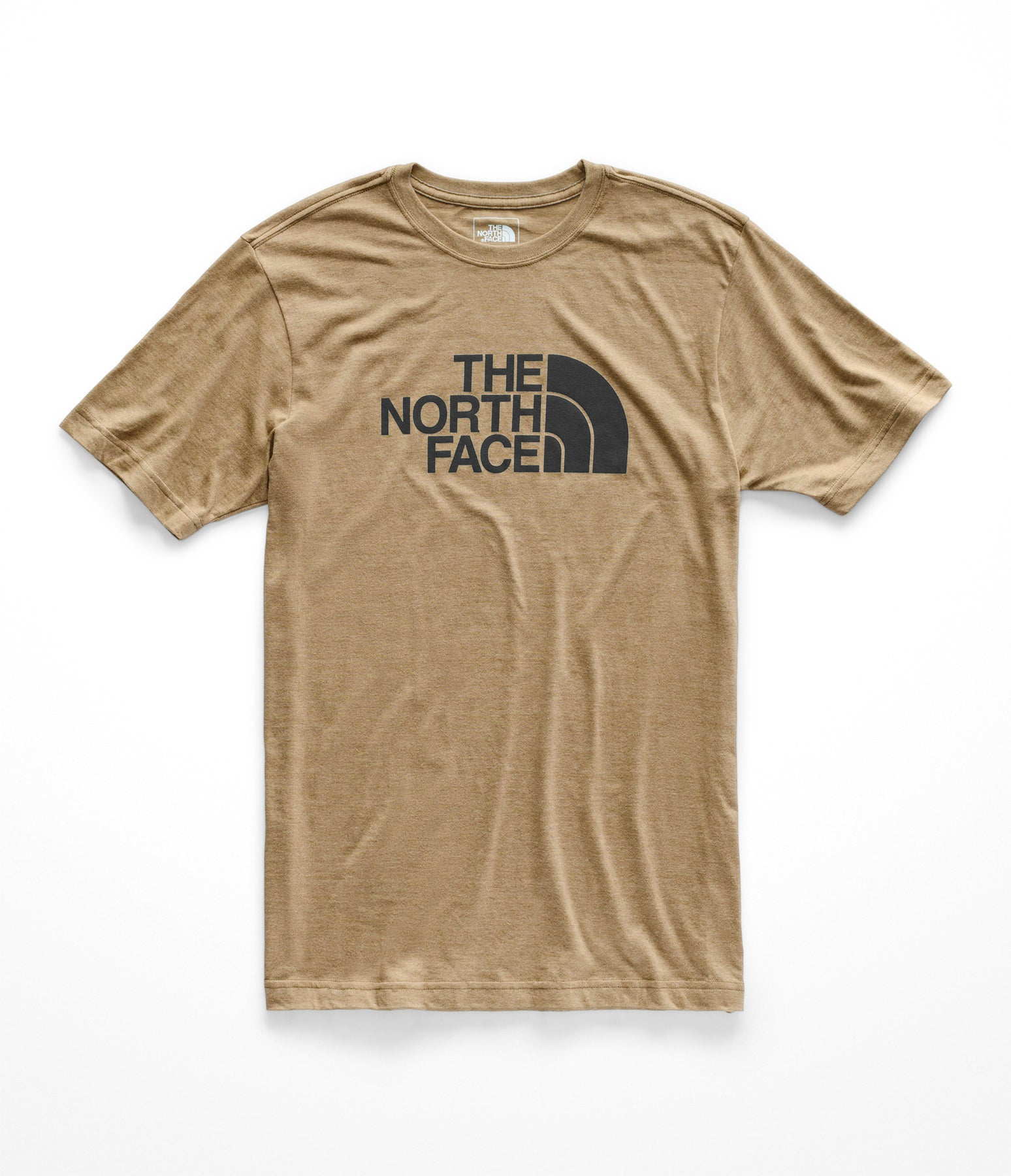 7165a5007 The North Face Men's Short Sleeve Tri-Blend Tee - Kelp Tan Heather/TNF Black