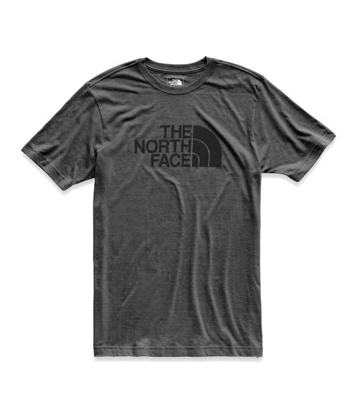 The North Face Men's Short Sleeve Tri-Blend T-shirt in TNF Dark Grey Heather/TNF Black at Dave's New York