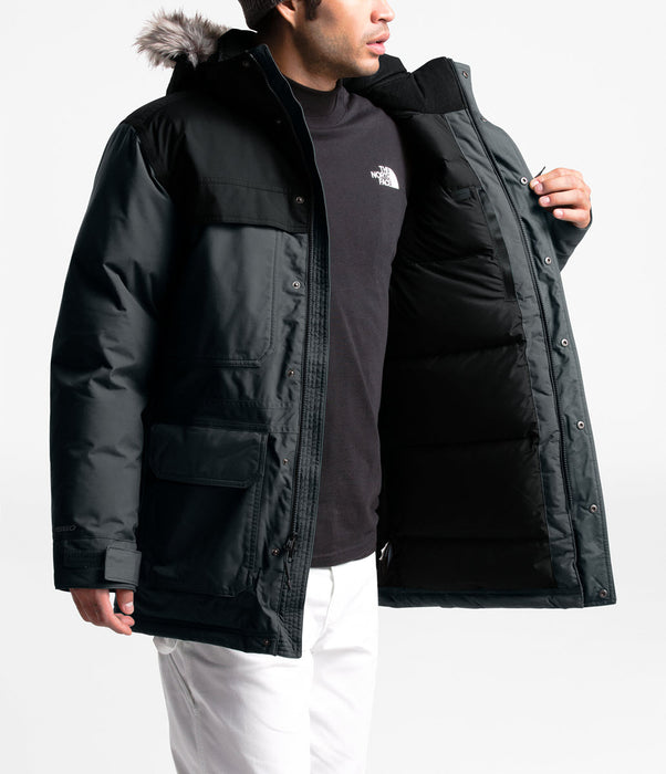 The North Face Men's McMurdo III Down Insulated Parka in Asphalt Grey/TNF Black at Dave's New York