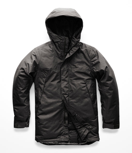 The North Face Men's Shielder Down Insulated Parka in TNF Dark Grey Heather at Dave's New York