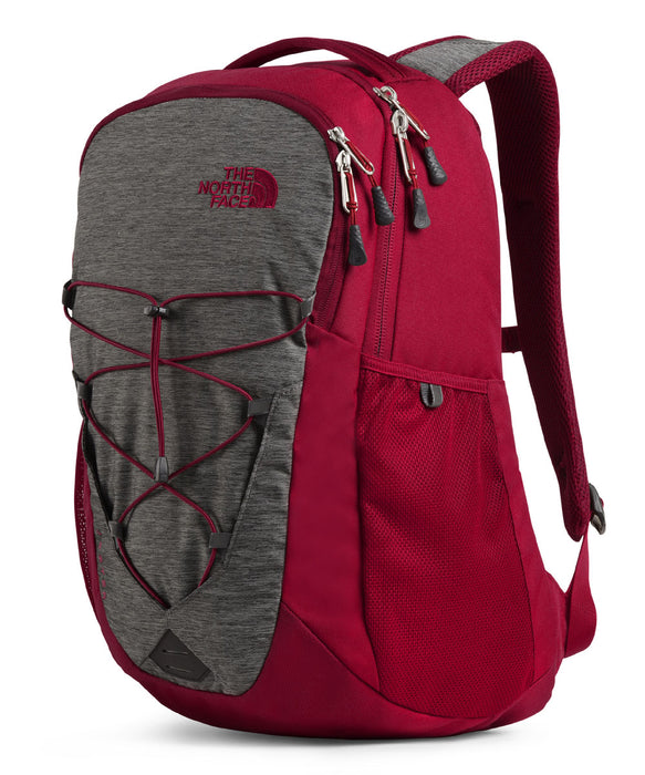 The North Face Jester Backpack in TNF Dark Grey Heather/Cardinal Red at Dave's New York