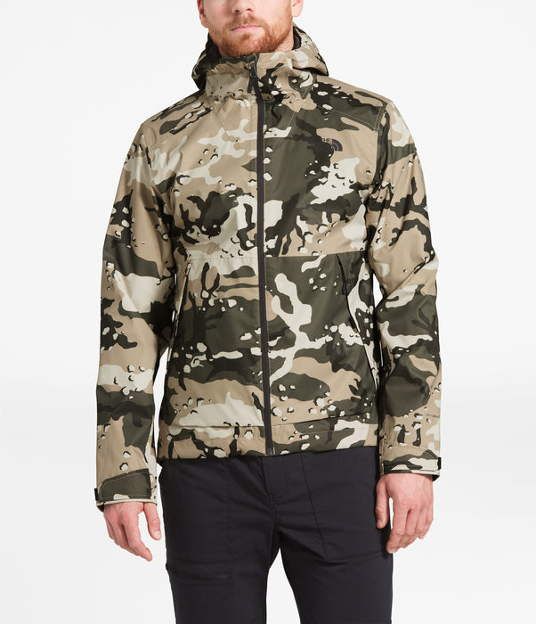 The North Face Men's Millerton Waterproof Jacket - Peyote Beige Woodchip Camo Print