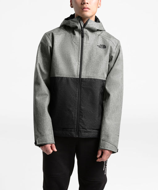The North Face Men's Millerton Waterproof Jacket in Monument Grey Herringbone/Black Dobby at Dave's New York