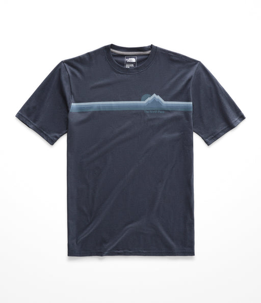 The North Face Men's Short Sleeve Retro Sunset Logo Tee - Urban Navy