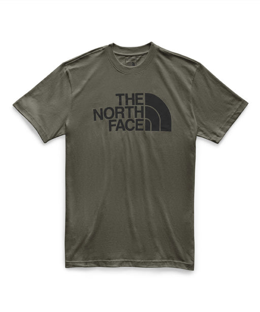 The North Face Men's Short Sleeve Half Dome T-shirt in New Taupe Green/TNF Black at Dave's New York