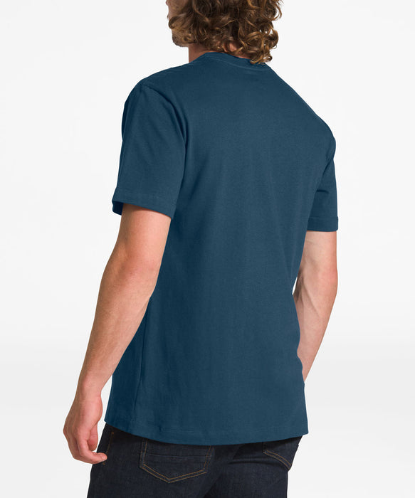 The North Face Men's Short Sleeve Half Dome Tee - Blue Wing Teal / TNF White