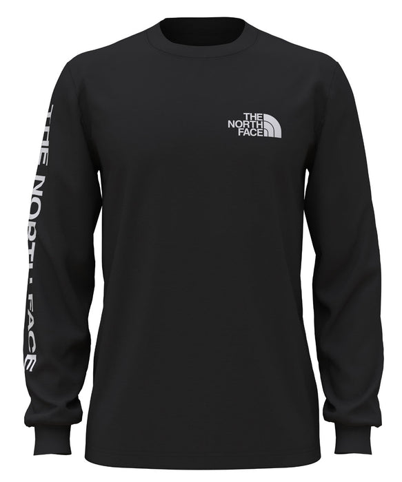 The North Face Men's Long Sleeve TNF™ Sleeve Hit Tee - TNF Black at Dave's New York