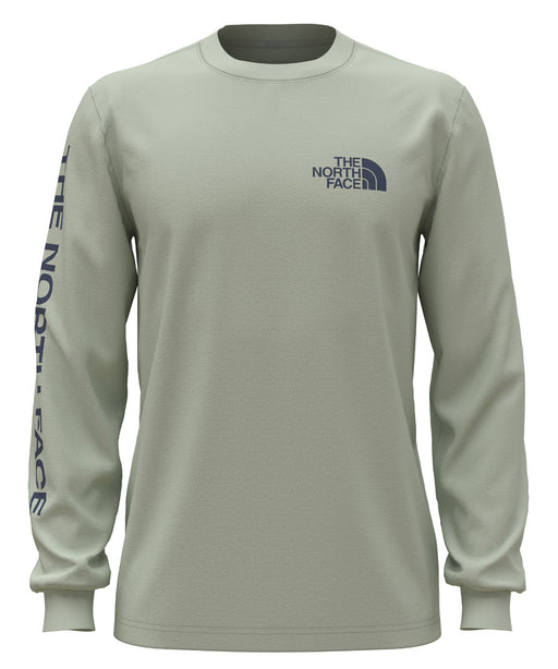 The North Face Men's Long Sleeve TNF™ Sleeve Hit Tee - Green Mist at Dave's New York