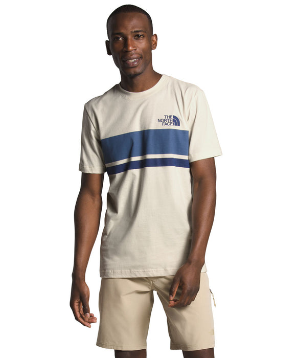 The North Face Men's Short Sleeve Horizontal Lines T-shirt in Vintage White at Dave's New York