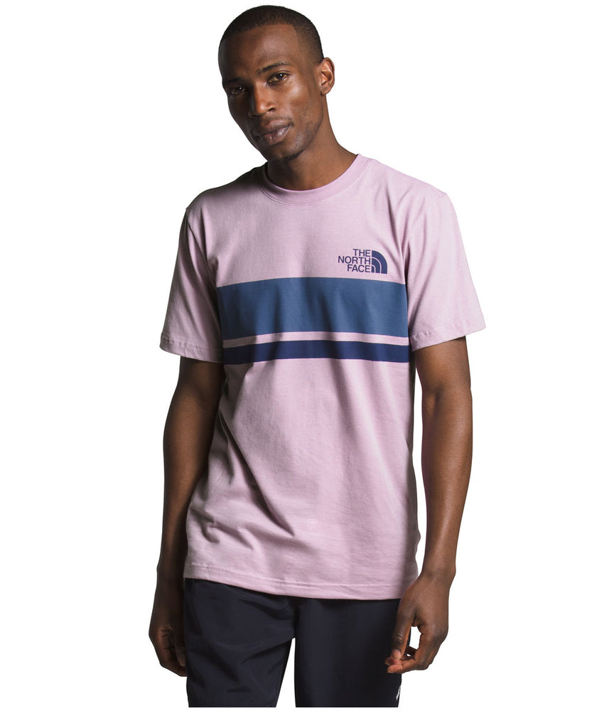The North Face Men's SS Horizontal Lines Tee - Lavendar Mist