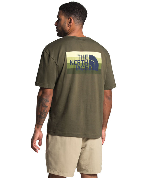 The North Face Men's SS Tonal Bars Tee - Burnt Olive Green