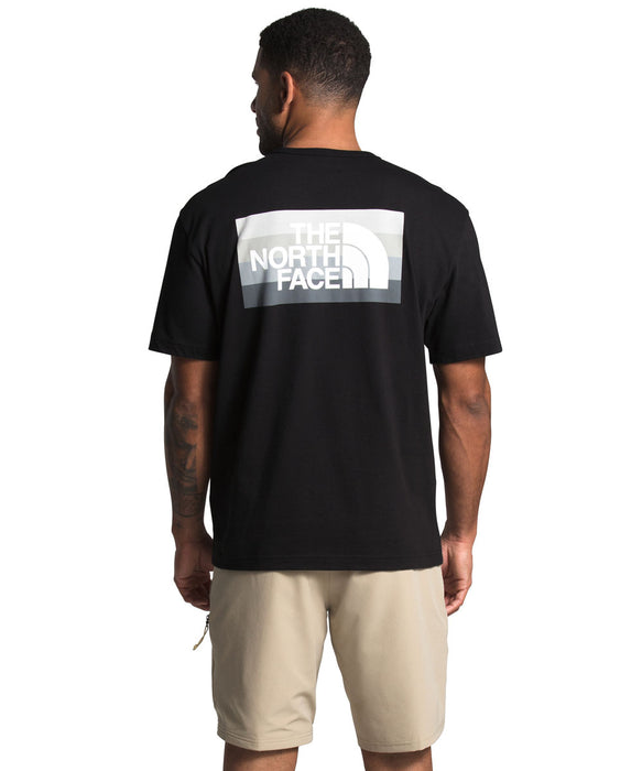 The North Face Men's Short Sleeve Tonal Bars T-shirt in TNF Black at Dave's New York