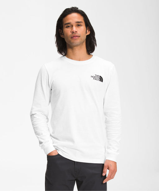 The North Face Men's Long Sleeve Box NSE Tee - TNF White at Dave's New York