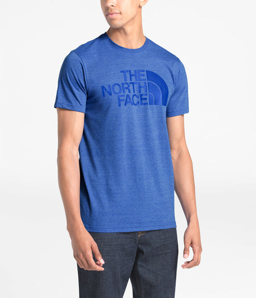 The North Face Men's Short Sleeve Tri-Blend Half Dome T-shirt in TNF Blue Heather at Dave's New York